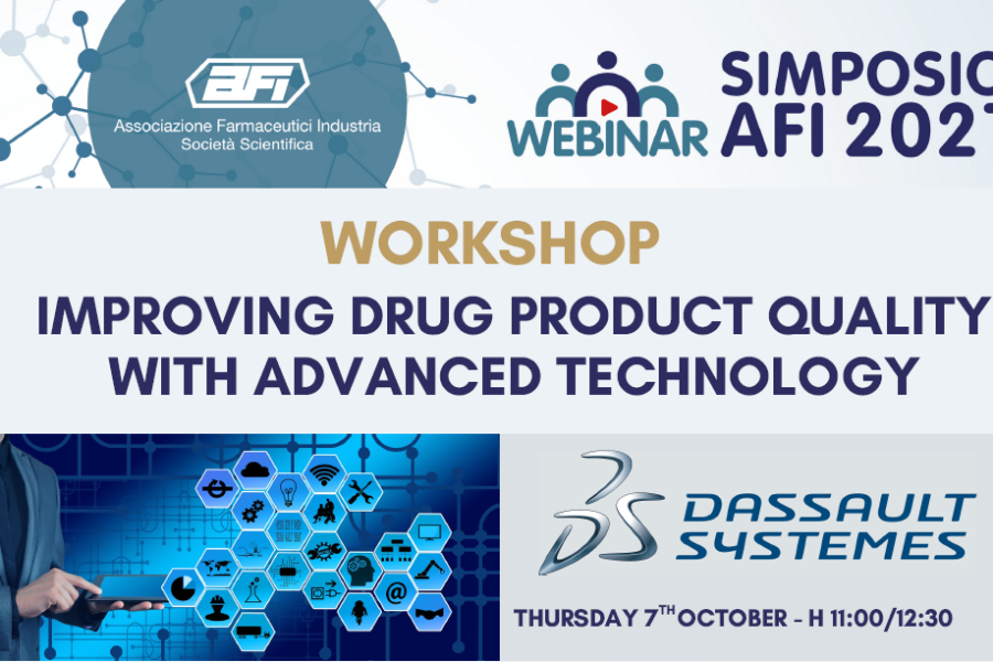 "LIVE WEBINAR ""WORKSHOP: IMPROVING DRUG PRODUCT QUALITY WITH ADVANCED TECHNOLOGY"""
